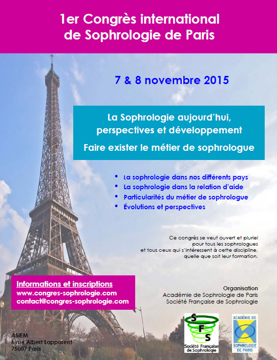 Sophrologie International Congress in Paris